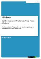 """Fabio Sagner: Der Liederzyklus """"Winterreise"""" von Franz Schubert"""