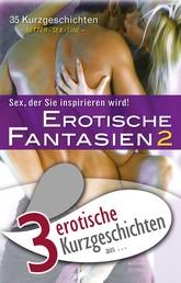 """3 erotische Kurzgeschichten aus: """"Erotische Fantasien 2"""""""