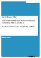Martin Seidensticker: Markendisidentifikation. Warum Menschen bestimmte Marken ablehnen