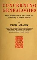 Frank Allaben: Concerning Genealogies