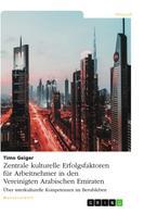 Timo Geiger: Zentrale kulturelle Erfolgsfaktoren für Arbeitnehmer in den Vereinigten Arabischen Emiraten
