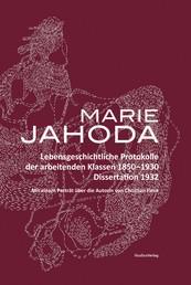 Lebensgeschichtliche Protokolle der arbeitenden Klassen 1850-1930 - Dissertation 1932