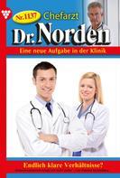 Patricia Vandenberg: Chefarzt Dr. Norden 1137 – Arztroman ★★