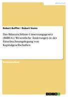 Robert Buffler: Das Bilanzrichtlinie-Umsetzungsgesetz (BilRUG). Wesentliche Änderungen in der Einzelrechnungslegung von Kapitalgesellschaften