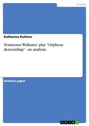 """Tennessee Williams' play """"Orpheus descending"""" - an analysis"""