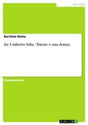 Zu: Umberto Saba - Trieste e una donna