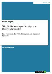 Wie die Babenberger Herzöge von Österreich wurden - Eine systematische Betrachtung zum Aufstieg einer Dynastie