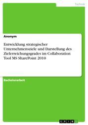 Entwicklung strategischer Unternehmensziele und Darstellung des Zielerreichungsgrades im Collaboration Tool MS SharePoint 2010