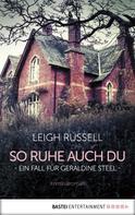 Leigh Russell: So ruhe auch du ★★★★