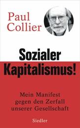 Sozialer Kapitalismus! - Mein Manifest gegen den Zerfall unserer Gesellschaft - Mit einem Vorwort für die deutsche Ausgabe