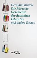 Hermann Kurzke: Die kürzeste Geschichte der deutschen Literatur ★★★★★