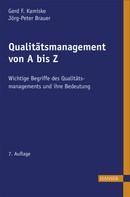 Gerd F. Kamiske: Qualitätsmanagement von A - Z ★★★★★