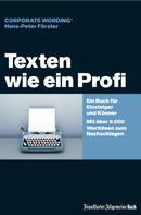 Hans-Peter Förster: Texten wie ein Profi