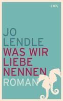 Jo Lendle: Was wir Liebe nennen ★★★