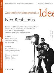 Zeitschrift für Ideengeschichte Heft VII/2 Sommer 2013 - Neo-Realismus