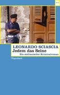Leonardo Sciascia: Jedem das Seine ★★★★