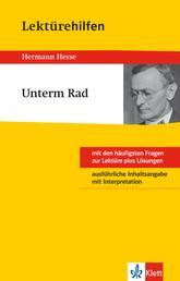 Klett Lektürehilfen - Hermann Hesse, Unterm Rad - Interpretationshilfe für Klasse 8 bis 10