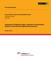 Taxonomy of Software Types. A Review of Information Systems and Software Engineering Literature