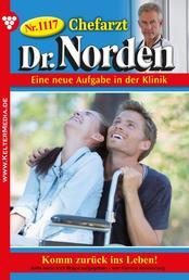 Chefarzt Dr. Norden 1117 – Arztroman - Komm zurück ins Leben!