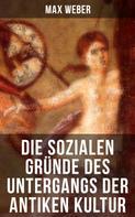 Max Weber: Die sozialen Gründe des Untergangs der antiken Kultur