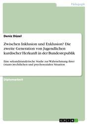 Zwischen Inklusion und Exklusion? Die zweite Generation von Jugendlichen kurdischer Herkunft in der Bundesrepublik - Eine sekundäranalytische Studie zur Wahrnehmung ihrer (staats-)rechtlichen und psychosozialen Situation