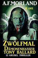 A. F. Morland: Zwölfmal Dämonenhasser Tony Ballard 001 - Sammelband 12 Grusel Thriller