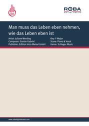 Man muss das Leben eben nehmen, wie das Leben eben ist - as performed by Juliane Werding, Single Songbook