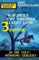 W. W. Shols: In die Colt-Mündung geblickt: Western Roman Trio Sammelband 3 Romane