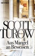 Scott Turow: Aus Mangel an Beweisen ★★★★