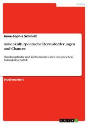 Außenkulturpolitische Herausforderungen und Chancen - Handlungsfelder und Zielhorizonte einer europäischen Außenkulturpolitik