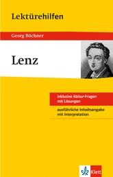 Klett Lektürehilfen - Georg Büchner, Lenz - Interpretationshilfe für Oberstufe und Abitur