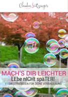 Claudia Seitzinger: Mach's dir leichter! ★★★