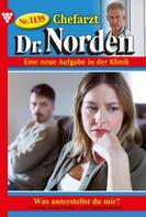 Patricia Vandenberg: Chefarzt Dr. Norden 1135 – Arztroman