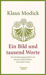 """Ein Bild und tausend Worte - Die Entstehungsgeschichte von """"Konzert ohne Dichter"""" und andere Essays"""