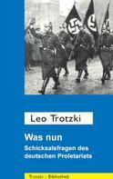 Leo Trotzki: Was nun?