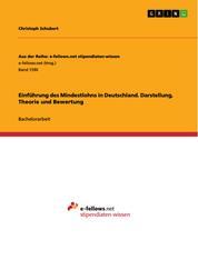 Einführung des Mindestlohns in Deutschland. Darstellung, Theorie und Bewertung