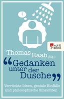 Thomas Raab: Gedanken unter der Dusche ★★★