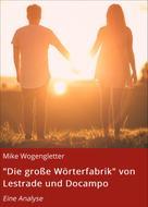 """Mike Wogengletter: """"Die große Wörterfabrik"""""""