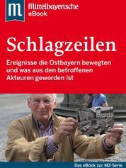 Die großen Schlagzeilen Ostbayerns - Das Buch zur Serie der Mittelbayerischen Zeitung