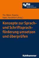 Cora Titz: Konzepte zur Sprach- und Schriftsprachförderung umsetzen und überprüfen