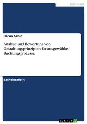 Analyse und Bewertung von Gestaltungsprinzipien für ausgewählte Buchungsprozesse