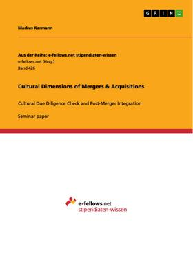 Cultural Dimensions of Mergers & Acquisitions