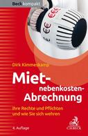 Dirk Kimmeskamp: Mietnebenkosten-Abrechnung ★★