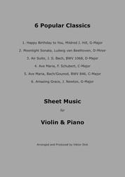 Popular Classics (Violin & Piano) - Sheet Music for Violin and Piano