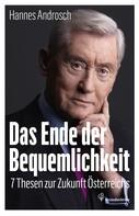 Hannes Androsch: Das Ende der Bequemlichkeit