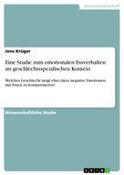 Jens Krüger: Eine Studie zum emotionalen Essverhalten im geschlechtsspezifischen Kontext