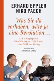 Was Sie da vorhaben, wäre ja eine Revolution… - Ein Streitgespräch über Wachstum, Politik und eine Ethik des Genug
