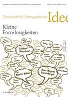 : Zeitschrift für Ideengeschichte Heft VIII/3 Herbst 2014