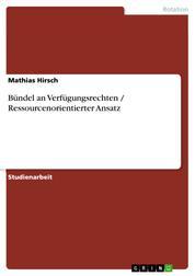 Bündel an Verfügungsrechten / Ressourcenorientierter Ansatz