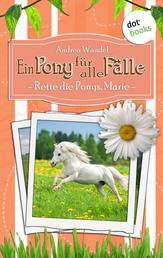 Ein Pony für alle Fälle - Zehnter Roman: Rette die Ponys, Marie!